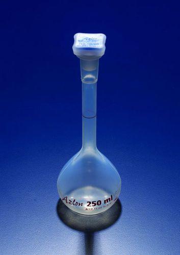 matraz de laboratorio / de polipropileno / aforadas