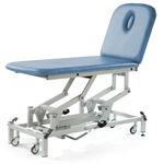mesa de masaje eléctrica / hidráulica / de altura ajustable / con ruedas