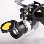 lámpara frontal para odontología / LED / con batería recargable / con fuente de luz portátil