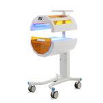 lámpara de fototerapia neonatal / con ruedas / de luz azul