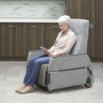 sillón de reconocimiento general / eléctrico / con ruedas / reclinable