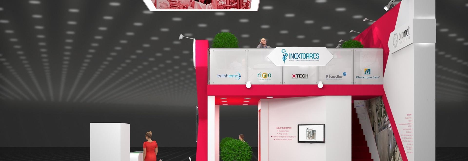 Inoxtorres SL aumenta su presencia internacional en la participación en la exposición de Pharmatech&Ingredients en Moscú Rusia.