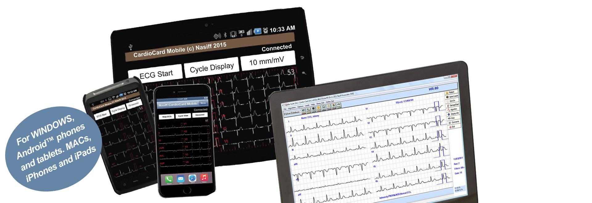 Tabla de Windows, Android™ y sistema del IOS ECG