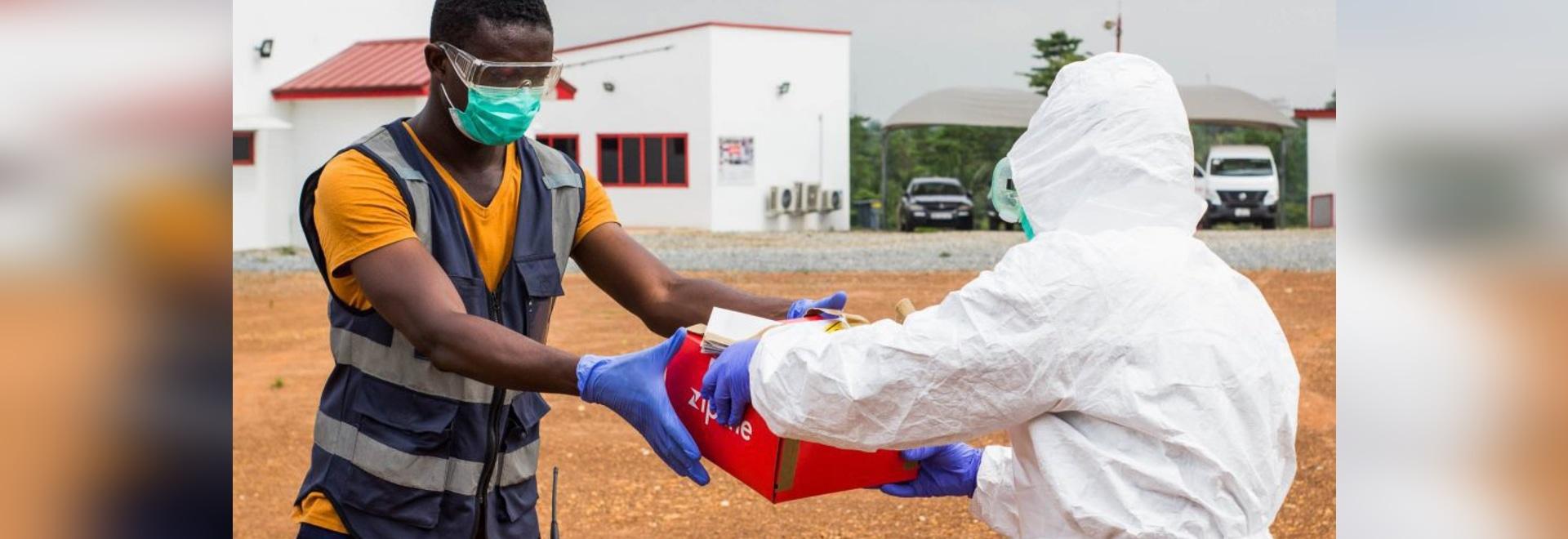 Zipline está entregando muestras de prueba de COVID-19 en Ghana.