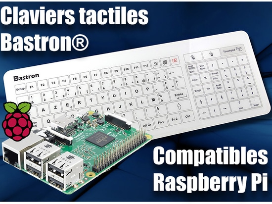 Bastron Glass Keyboard compatible with Raspberry Pi Module