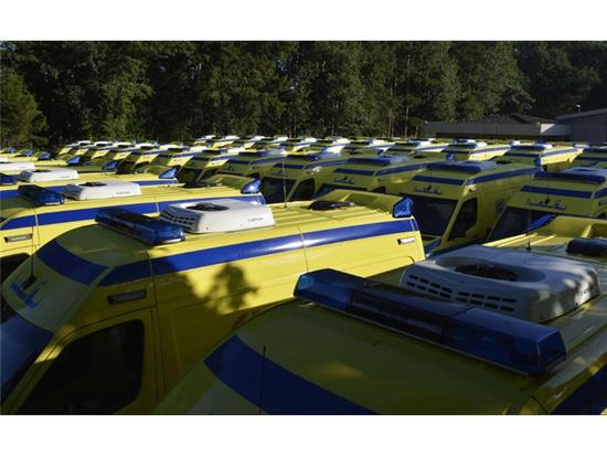 Fue para la entrega de 50 (de un total de 203) nuevas ambulancias para Egipto