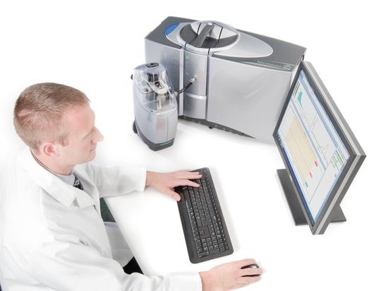 Análisis de la distribución del tamaño de las partículas: Navegación del software MS3000