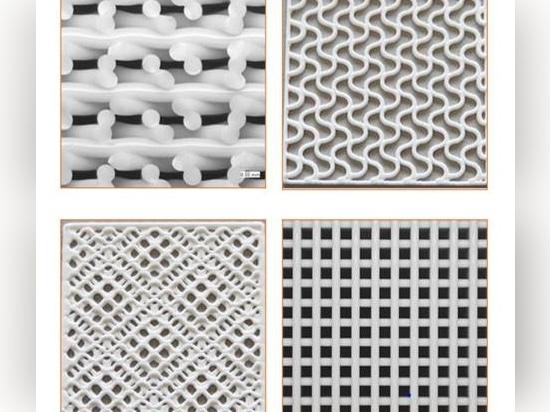 Múltiples tipos de escotillas disponibles para crear patrones internos complejos y reproducibles.