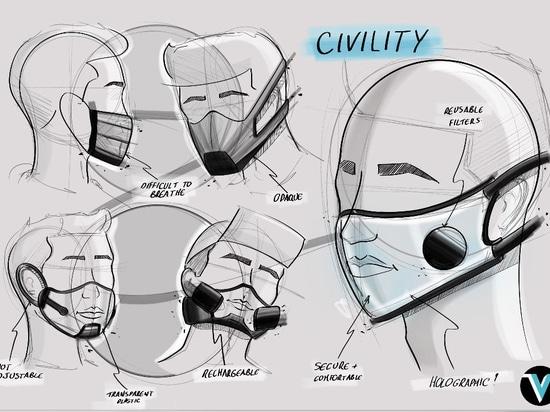 """""""Uno de los retos para nosotros era asegurarnos de que la máscara transparente no se empañara mientras se usaba. Encontramos una solución a través de una gran filtración, que permite que circule su..."""