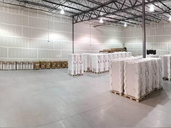 El almacén de B Medical Systems en los Estados Unidos