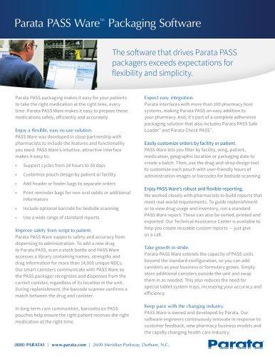Parata PASS Ware Packaging Software