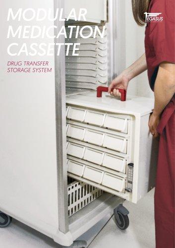 Modular medication cassette - Drug transfer storage system
