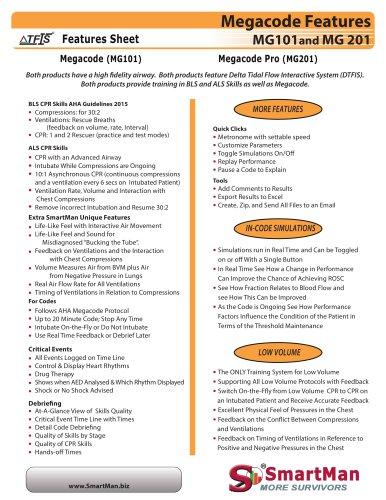 Megacode Features Sheet
