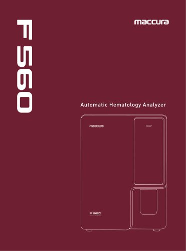 F560 Automatic Hematology Analyzer