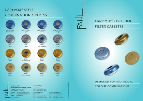 LARYVOX® STYLE HME FILTER CASSETTE