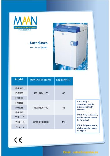 Autoclaves - FYR Series