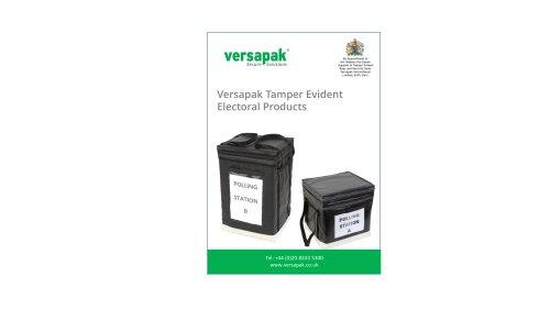 Versapak Tamper Evident Electoral Products