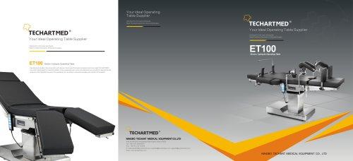ET100,Universal operating table / electro-hydraulic / Trendelenburg / reverse Trendelenburg,TECHARTMED