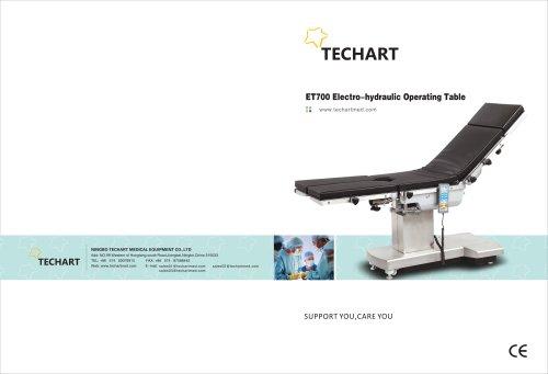 ET700,Universal operating table / electro-hydraulic / Trendelenburg / reverse Trendelenburg,TECHARTMED