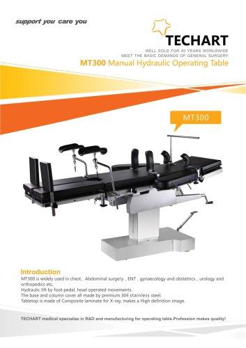 MT300,Universal operating table / hydraulic / Trendelenburg / reverse Trendelenburg,TECHARTMED