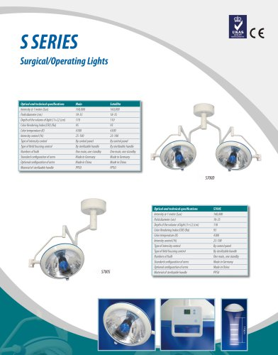 S series,LED surgical light / ceiling-mounted / with control panel,TECHARTMED