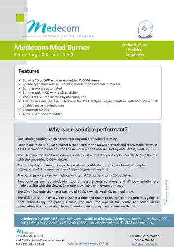 Med Burner - CD/DVD Burner for Medical Images