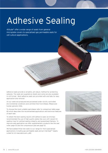 Adhesive Sealing Films and Foils