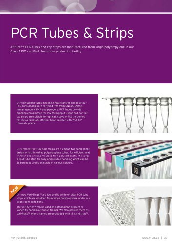 PCR Tubes and Strips