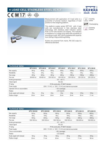 4 LOAD CELL STAINLESS STEEL SCALE