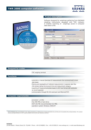 TWR 2006 computer software