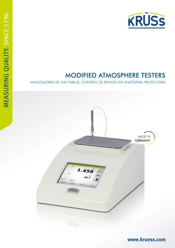 Analizadores de gas - Modified Atmosphere Testers
