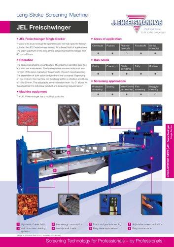 JEL Freischwinger Long-Stroke Screening Machine
