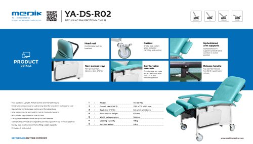 YA-DS-R02 Hospital patient recliner chairs