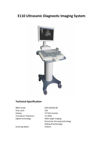 E110 trolley B/W utrasound scanner