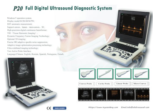 New P20 Notebbok B/W ultrasound scanner with PW