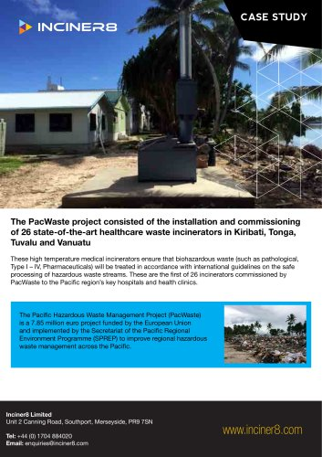 Medical Waste in Tonga - Case Study