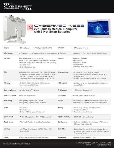 CyberMed-NB22 Medical Grade Computer