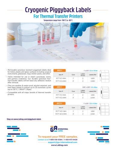 Cryogenic PiggyBack Labels