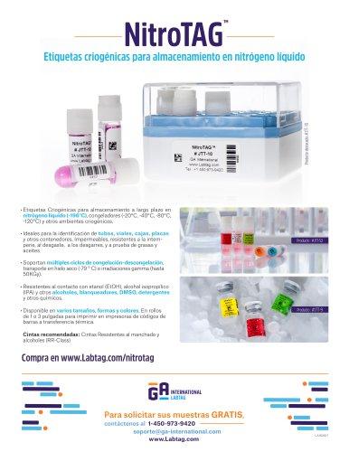 Etiquetas para el almacenamiento en nitrogeno liquido