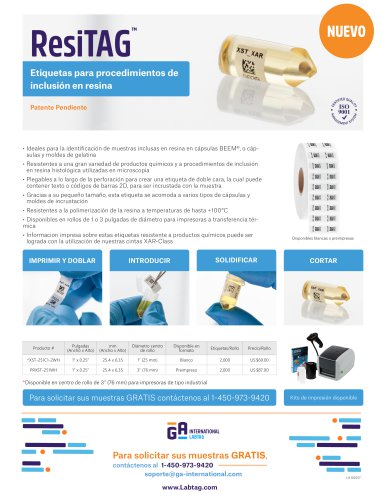 label medical Spanish