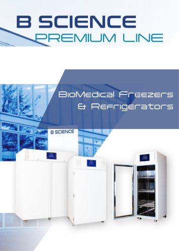 B SCIENCE PREMIUM LINE REFRIGERATION