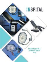 Mesas de Operaciones y lámparas Cialiticas