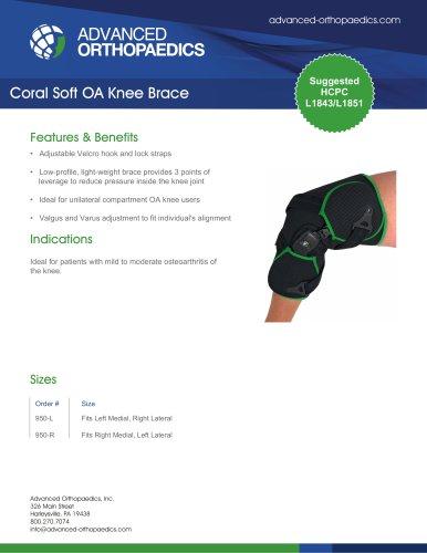 Coral Soft OA Knee Brace