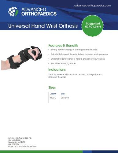 Universal Hand Wrist Orthosis