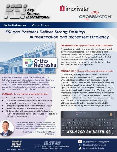OrthoNebraska Biometric Keyboard Use Case