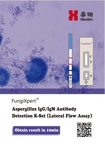 Genobio Aspergillus IgG/IgM Antibody Detection K-Set Lateral Flow Assay