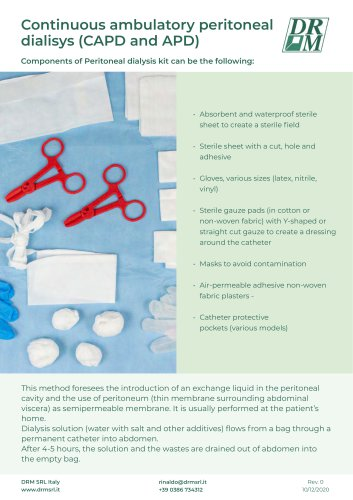 PERITONEAL DIALYSIS DRESSING KIT (customerized kit) - KIT MEDICAZIONE PERITONEALE