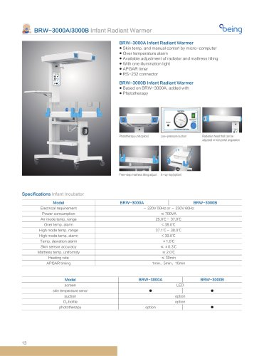 Being medical/ BRW-3000A3000B Infant Radiant Warmer