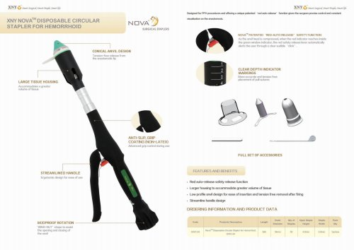 XNY NOVA Disposable Circular Stapler for Hemorrhoid
