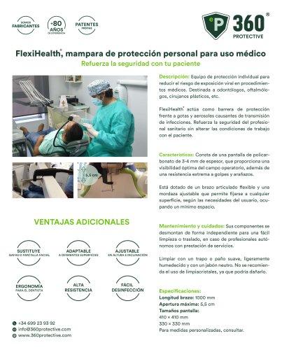 Mampara de protección de policarbonato de uso sanitario Flexihealth
